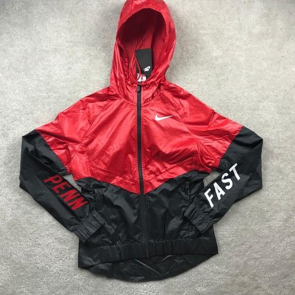 Nike Penn Relays Windrunner Red Black White Jacket d2db99830